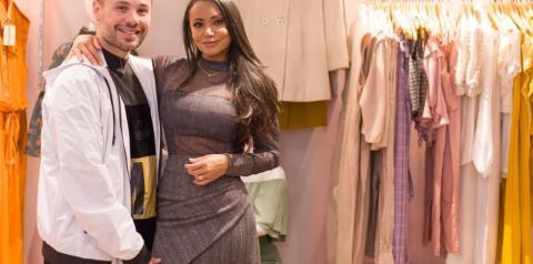 Cleo Pillon prestigia a inauguração da loja Donna Galllete, na badalada Oscar Freire em SP