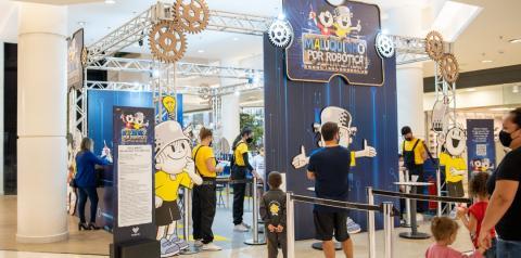 Maluquinho por Robótica traz interatividade, conhecimentos físicos e diversão para o Plaza Sul Shopping
