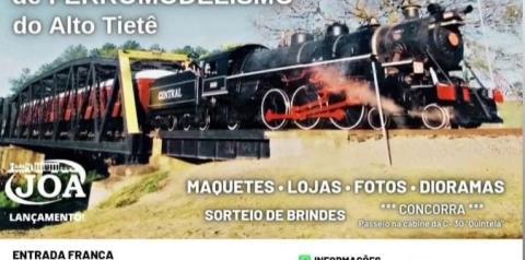 Guararema sediará, na próxima semana, 1º Encontro de Ferromodelismo do Alto Tietê