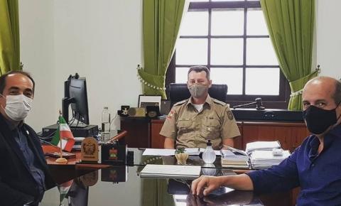 Associação visita os Comandos-Gerais da Polícia Militar e do Corpo de Bombeiros Militar de SC