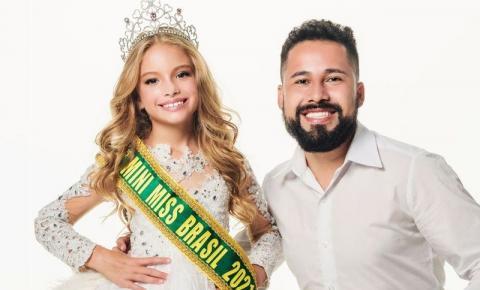 Paulo Filho assina preparação de Ana Carolina Leite, eleita Mini Miss Brasil 2021