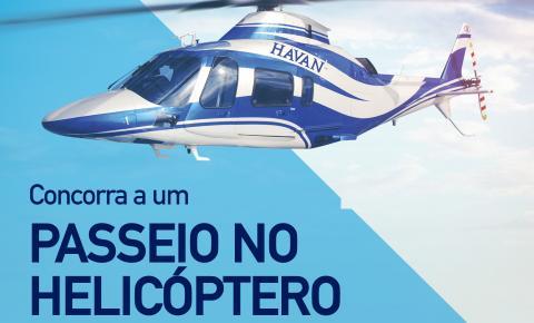 Havan sorteia passeios de helicóptero em comemoração ao 159º aniversário de Brusque