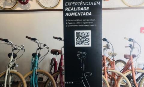 Programa ALI do Sebrae/SC cria totem de realidade aumentada para loja de bicicletas elétricas em Balneário Camboriú
