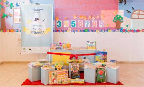 Para incentivar a leitura no público infantil, projeto distribui bibliotecas móveis em Santa Rosa