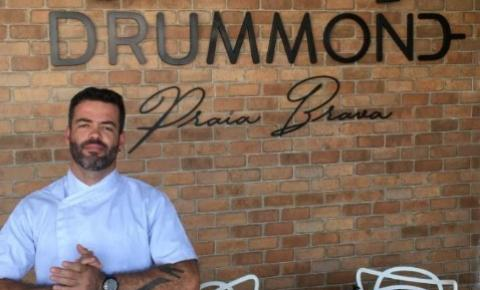 Chef Zé Abranches comanda a cozinha do Restaurante Drummond