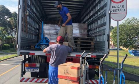 Oxímetros, cestas de alimentos e produtos de limpeza são doados pela Novozymes no Paraná