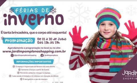 Oficinas de Férias do Jardim Pamplona Shopping oferecem recreação às crianças durante as férias de julho