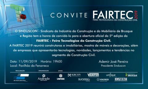 Fairtec, maior feira da construção civil da região sul, tem início nessa quarta-feira