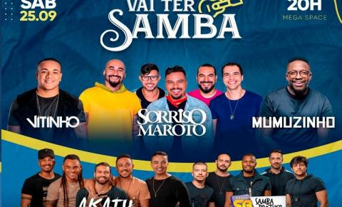 Em MG: Sorriso Maroto, Mumuzinho, Akatu, Vitinho e Samba Brother agitam o Vai Ter Samba neste sábado