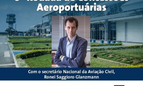 Secretário Nacional de Aviação Civil apresenta informações sobre concessão do aeroporto de Joinville