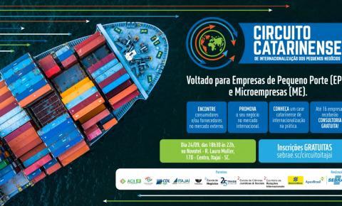 Itajaí sedia Circuito Catarinense de Internacionalização dos Pequenos Negócios na próxima semana