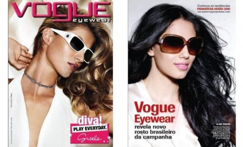 Modelo Aline Tabata conta como foi substituir Gisele Bundchen na Vogue Eyewear