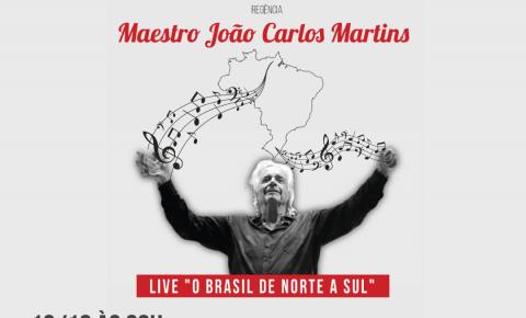 Sob regência do maestro João Carlos Martins, Orquestra de Cordas Bachiana Filarmônica faz viagem à diversidade cultural do Brasil em nova live