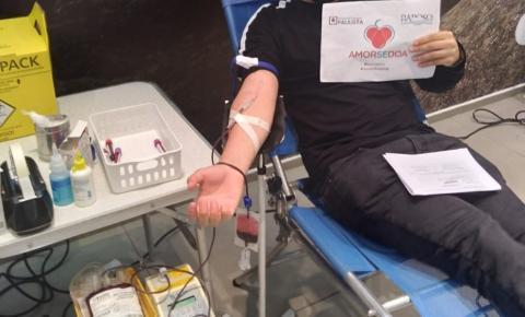 Campanha de doação de sangue é realizada no Raposo Shopping