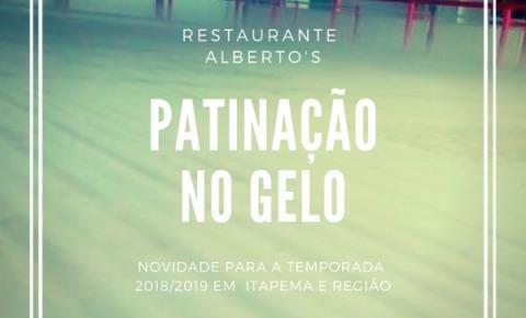 Patinação no gelo é a super novidade do restaurante Alberto's para a temporada 2018/2019