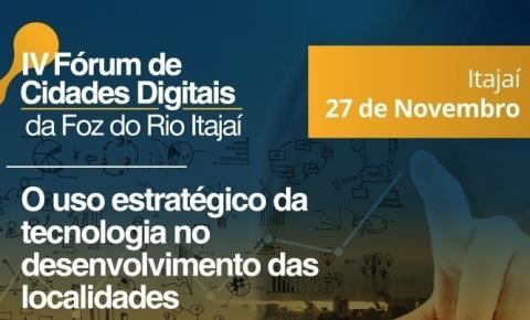Itajaí sedia neste mês Fórum de Cidades Digitais para região