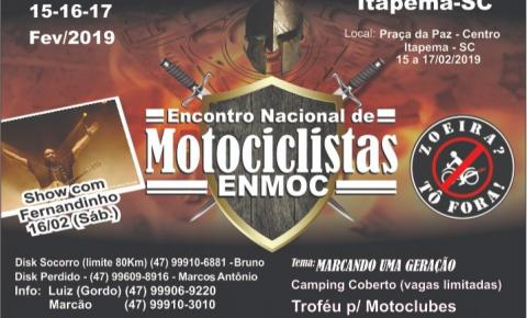 Itapema vai receber Encontro Nacional de Motociclistas