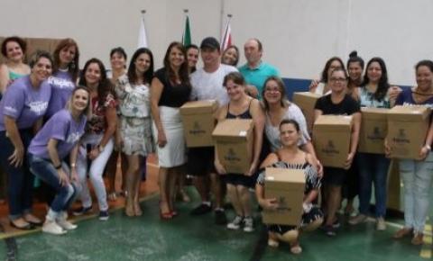 Ano letivo da Rede Municipal de Ensino inicia com entrega dos kits escolares para professores e alunos