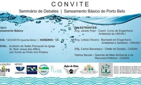 Seminário de Debates - Saneamento de Porto Belo
