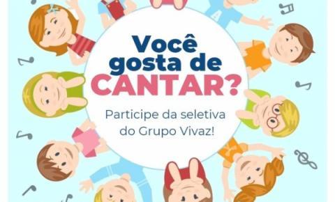 Coral Vivaz de Itapema irá realizar testes vocais