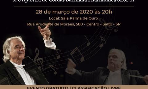 Concerto gratuito: Maestro João Carlos Martins rege a Orquestra de Cordas Bachiana Filarmônica SESI-SP em Salto