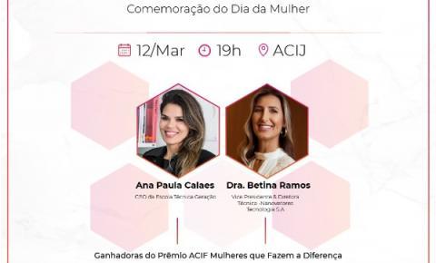 """""""Prêmio ACIJ Mulheres Que Inspiram"""" será lançado nesta quinta-feira em Joinville"""