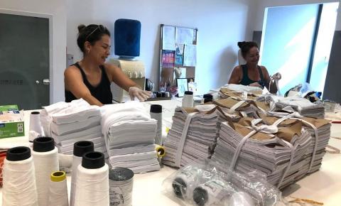 Diretora da CDL Mulher lidera ação de voluntárias que produzem máscaras para doações