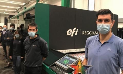 Produtividade digital incomparável, Impressora têxtil EFI Reggiani BOLT recebe o prêmio de tecnologia da InterTech