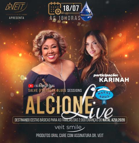 Alcione convida cantora catarinense para live, neste dia 18